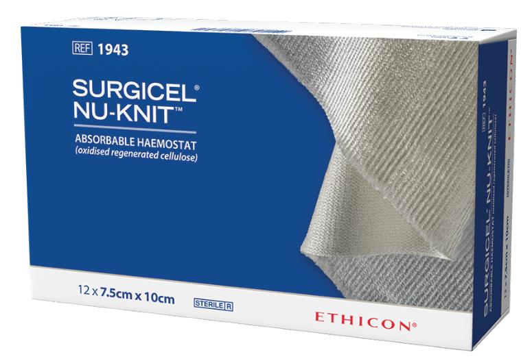 Surgicel Nu-Knit Ethicon - гемостатичний засіб, що розсмоктується (з регенерованої целюлози)