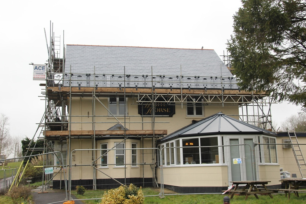New roof - front