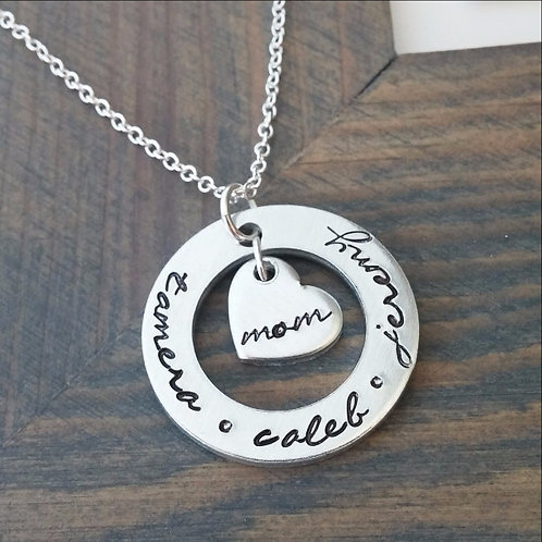 Personalized MOM Cutout Necklace