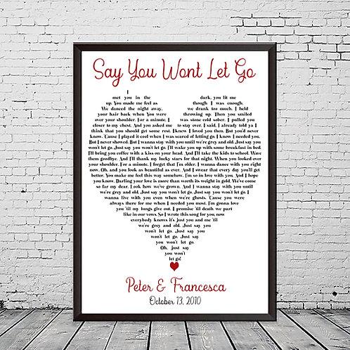 Lyric Heart Photo Print
