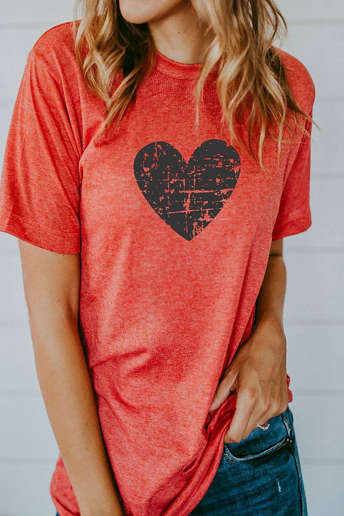 Distressed Heart Shirt