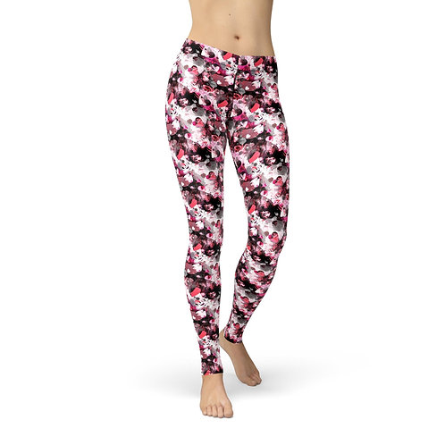 Red Pink Hearts Legging