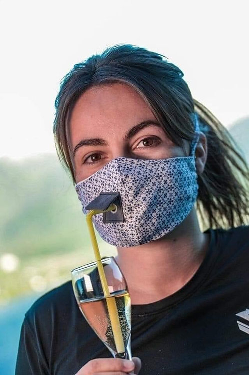 Adult Mask with Straw Hole