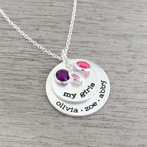 MY GIRLS Personalized Birthstone Necklace
