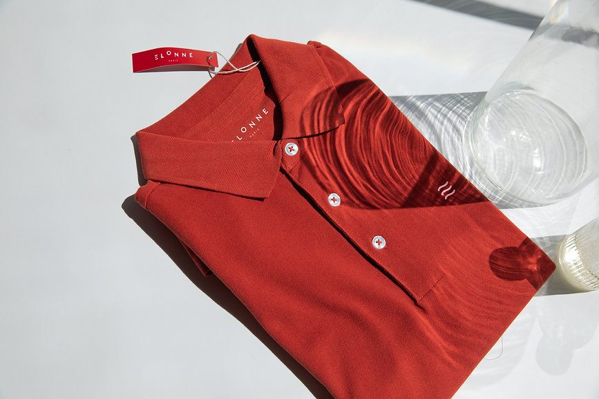 clermont FU-Polo-rouge-Elonne-ombres-mar