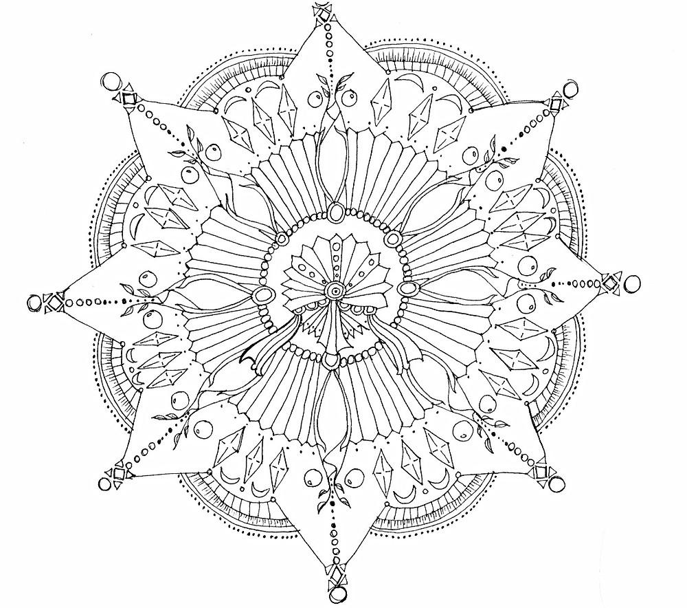 Prayer Wheel Mandala artwork