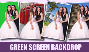 Photo booth green screen technology