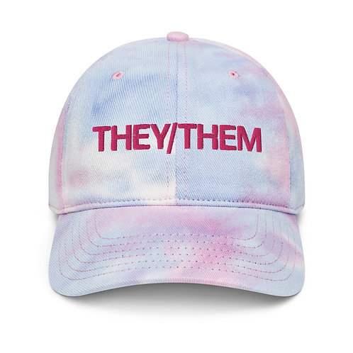They/Them Tie Dye Pronoun Cap
