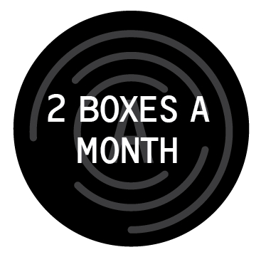 2 boxes a month, 1 easy payment