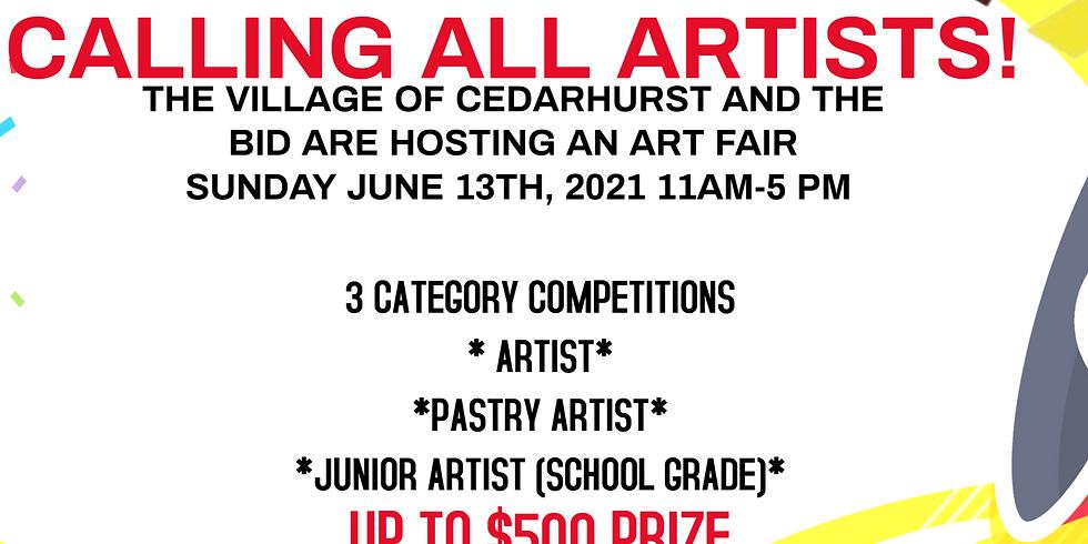 ART FESTIVAL CONTEST ARTIST/CAKE DECORATOR/JUNIOR ARTIST ENTRY