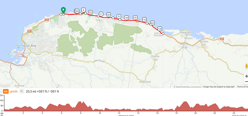 reggae ride day 1 welcome short route.pn