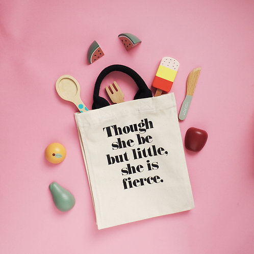 Though She Be But Little - Kid's Tote Bag