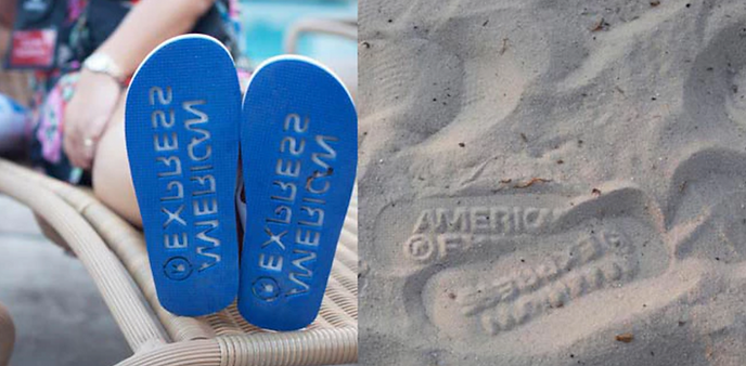 American Express on the beach