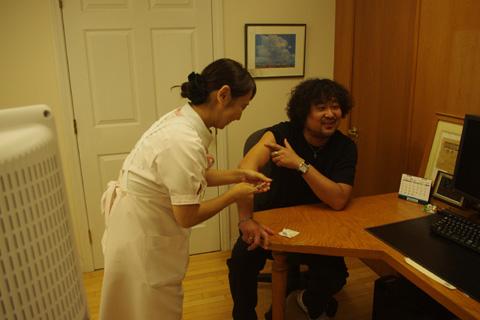 葉加瀬さん予防接種