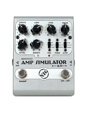 NIG Pedal Guitarra Eléctrica AS1 Amp Simulator