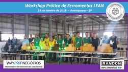 Avaliação do curso do dia 19.01.2018 - Workshop de ferramentas LEAN       Cidade de Araraquara - Ran