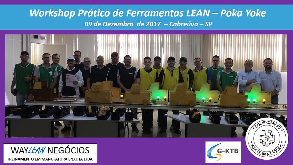 Workshop prático de aplicações de ferramentas Lean - 19.08.2017 - Cidade de Cabreúva