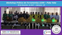 Avaliação do curso do dia 09.12.2017 - Workshop  ferramentas LEAN Poka Yoke- Cidade Cabreúva - GKT-B