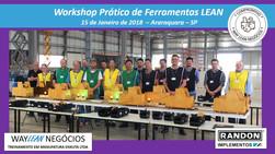 Avaliação do curso do dia 15.01.2018 - Workshop de ferramentas LEAN       Cidade de Araraquara - Ran