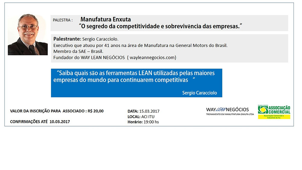 Palestra 15.03 Itu - Sergio Caraciolo Lean Manufacturing