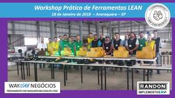 Avaliação do curso do dia 18.01.2018 - Workshop de ferramentas LEAN       Cidade de Araraquara - Ran