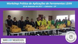 Avaliação da experiência do curso do dia 30.09.2017 - Workshop Prático de ferramentas LEAN - Cidade