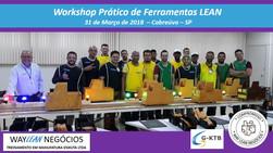 Avaliação do curso do dia 31.03.2018  Workshop de ferramentas LEAN       Cidade de Cabreúva.