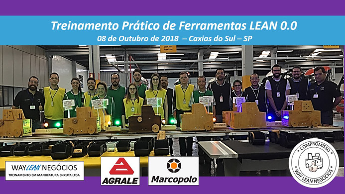 Avaliação do curso prático de Ferramentas LEAN 0.0  - Cidade de Caxias do Sul - RS - 08.10.2018