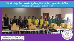 Avaliação da experiência do curso do dia 29.09.2017 - Workshop Prático de ferramentas LEAN - Cidade
