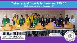 Avaliação do curso prático de Ferramentas LEAN 0.0  - Cidade de Cabreúva 09 de Junho 2018