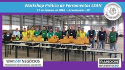 Avaliação do curso do dia 17.01.2018 - Workshop de ferramentas LEAN       Cidade de Araraquara - Ran