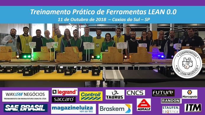 Avaliação do curso prático de Ferramentas LEAN 0.0  - Cidade de Caxias do Sul - RS - 11.10.2018
