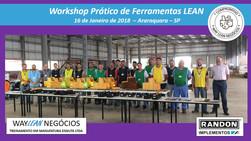 Avaliação do curso do dia 16.01.2018 - Workshop de ferramentas LEAN       Cidade de Araraquara - Ran