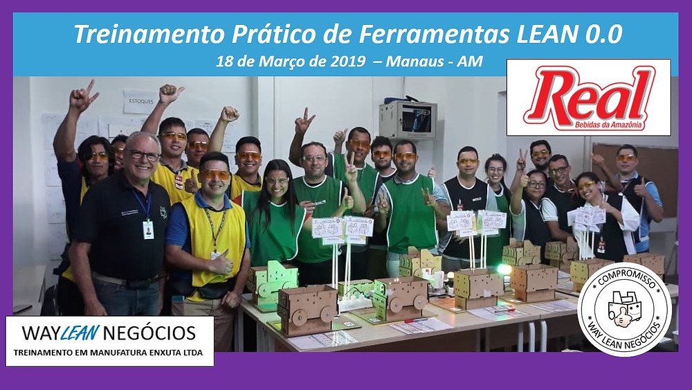 Treinamento prático de LEAN 0.0 - 18 de Março de 2019 Manaus - AM Ronaldo Caracciolo - Sergio Caracciolo Way Lean Negócios