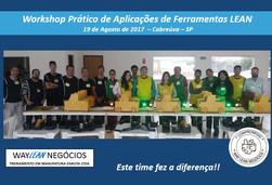 Avaliação da experiência do curso do dia 19.08.2017 - Workshop Prático de  de ferramentas LEAN - Cid