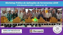 Avaliação do curso do dia 30.11.2017 - Workshop Prático de ferramentas LEAN - Cidade de Caxias do Su