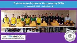 Avaliação do curso do dia 07.04.2018  Treinamento prático de ferramentas LEAN       Cidade de Cabreú