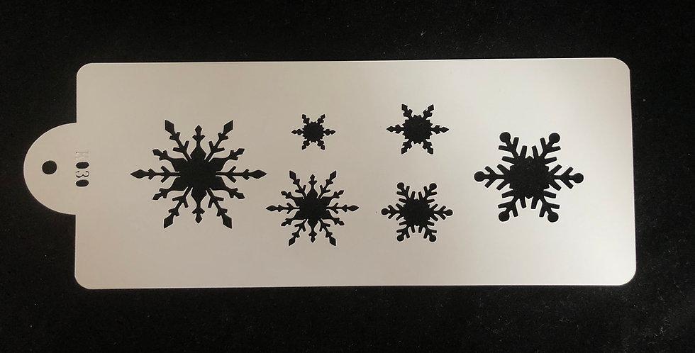 Snowflake Reusable Stencil