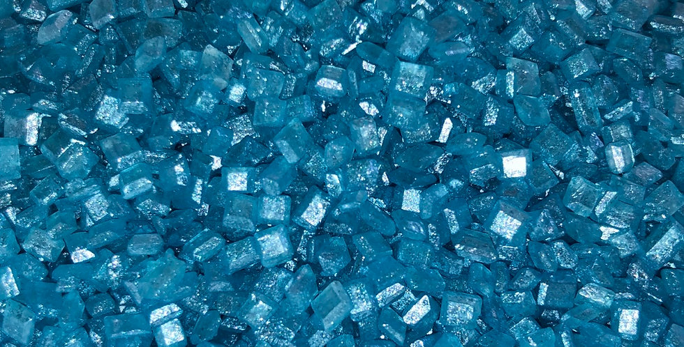 Blue sugar crystals