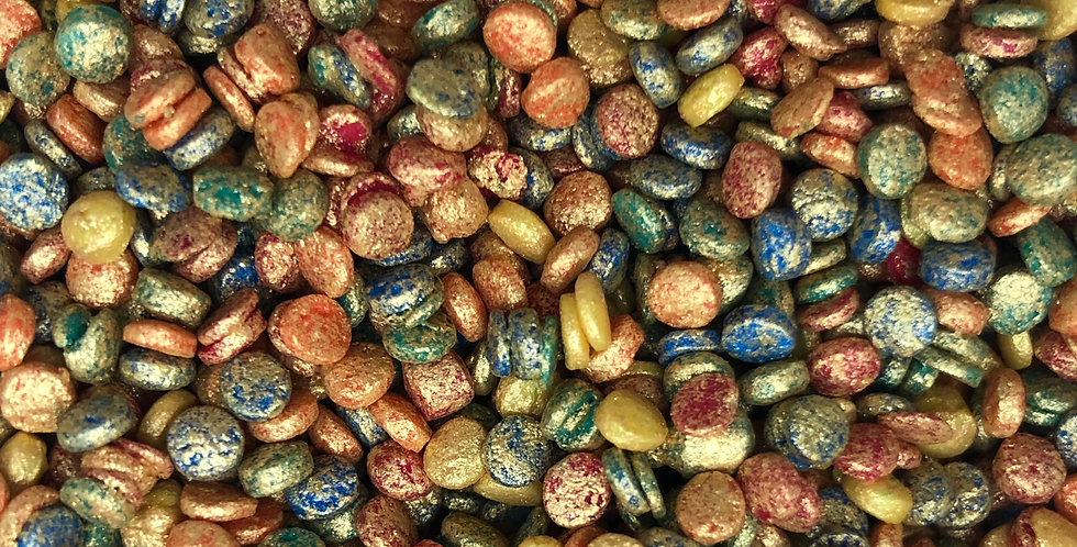 Luxury Gold Brushed Confetti Dots