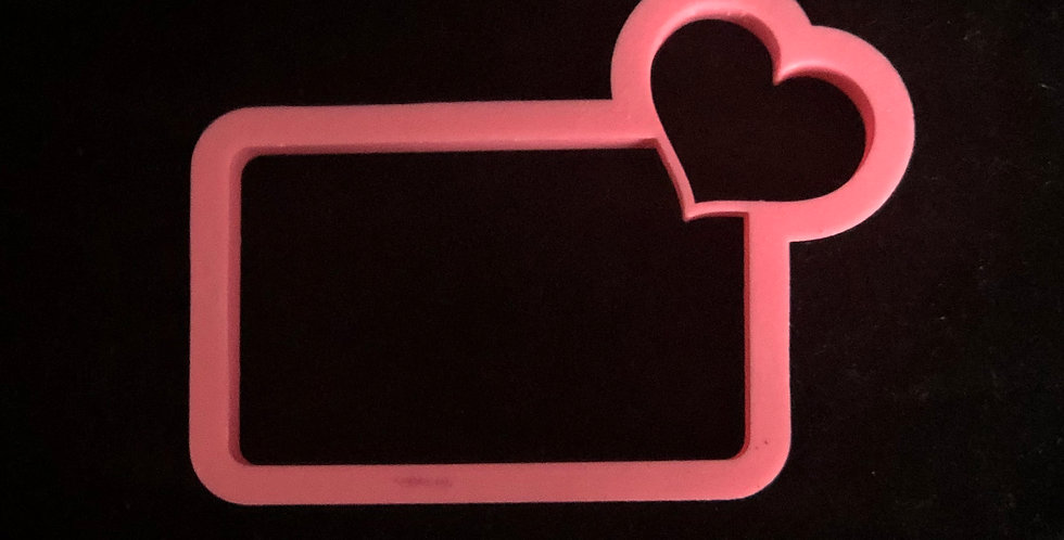 Heart with Tag Cutter