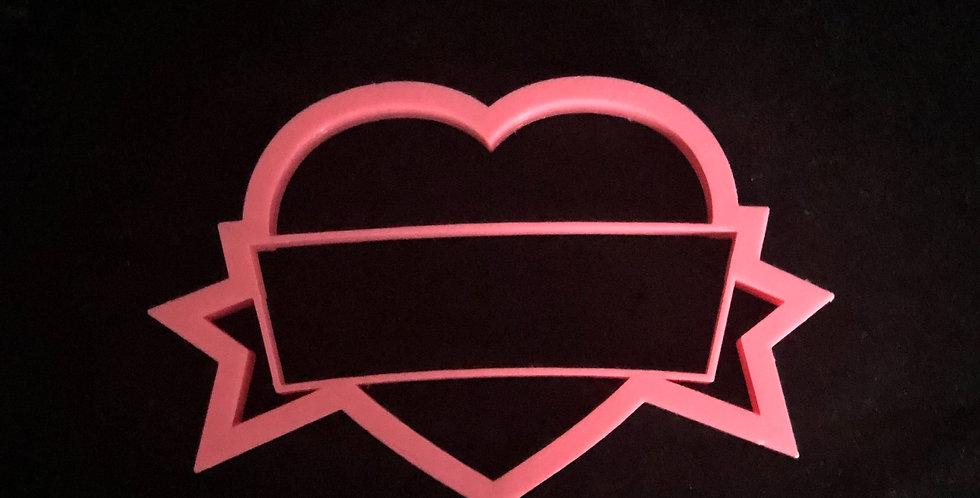 Large Heart Cutter with Message