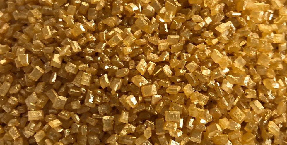 Gold sugar crystals