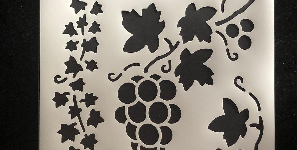 Grape and Vine Reusable Stencil