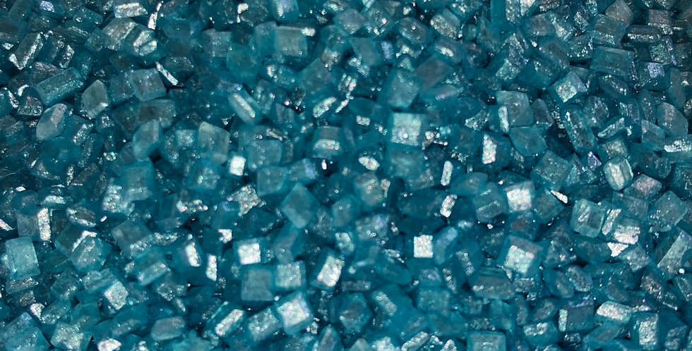 Turquoise sugar crystals