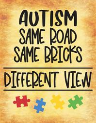 Autism - same road, same bricks 11x14 B.