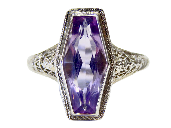 Amethyst Filagree Ring