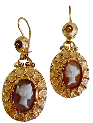 Antique Cameo Earrings