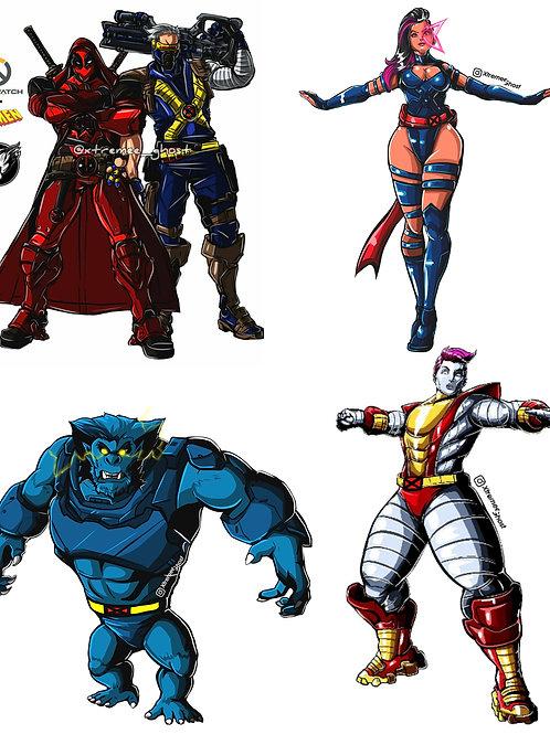 Overwatch / X-men Series 1 Bundle