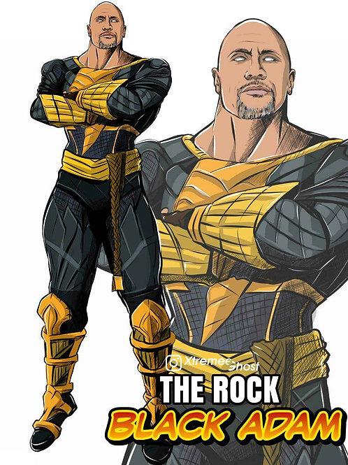 The Rock as Black adam